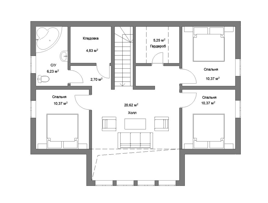 Каркасный дом 160-21