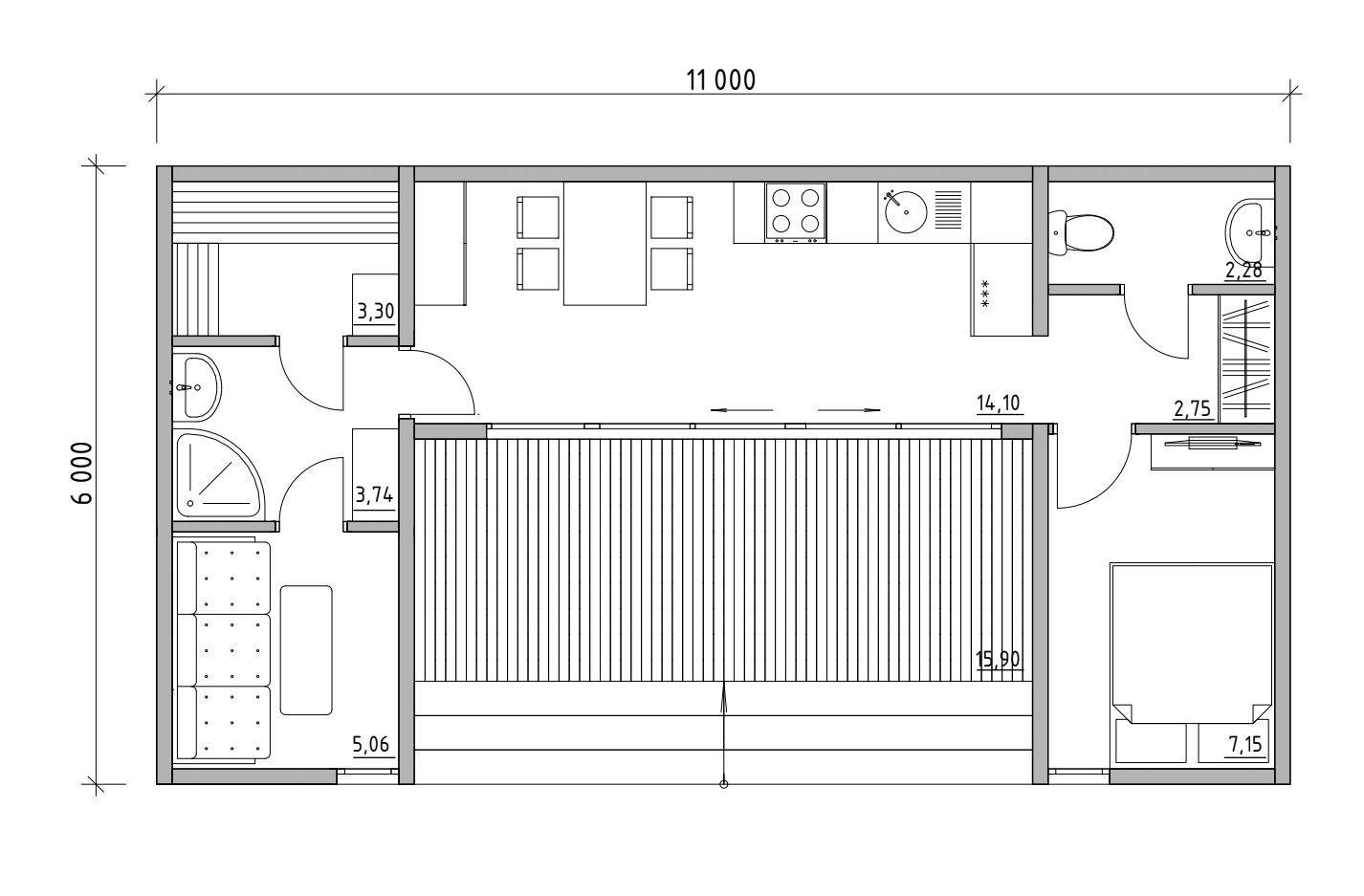 Модульный дом баня